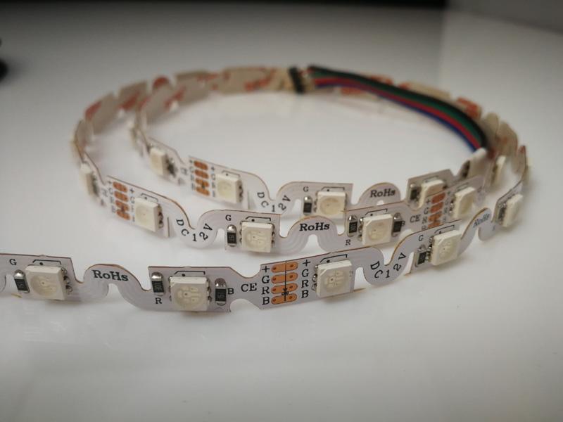 RGB S shape LED Strips: LR4008(smd5050 48leds)
